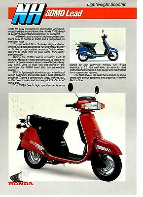 Honda NH 80MD Lead Lightweight Scooter Motorcycle Brochure / Leaflet 1986 32973