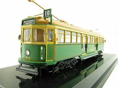 Cooee Static W6 CLASS DIECAST MELBOURNE TRAM GREEN RATTLER The Met NO 975 1:76
