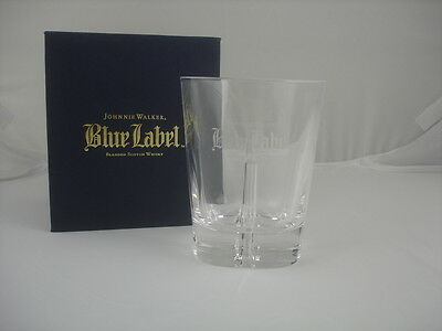 Johnnie Walker Whisky Blue Label Glass New in Box tall 4.5 inches