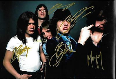Ac/dc Band Reprint Autographed Signed Picture Photo Collectible Angus Young Rp