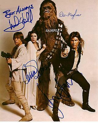Star Wars #1 Reprint Autographed Signed 8X10 Picture Photo Carrie Fisher Ford Rp