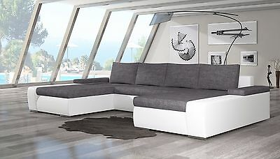 Wohnlandschaft Couch Sofa Marion U-Form Polstergarnitur Couchgarnitur Top