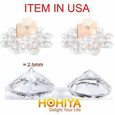 20 Acrylic Crystal Wedding Table Centerpieces Place Card Holder Party Home Decor