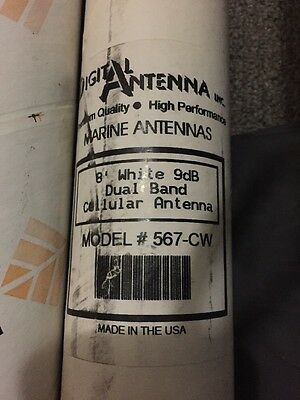 NEW DIGITAL ANTENNA 567-CW 8' Dual Band Cell Antenna, White