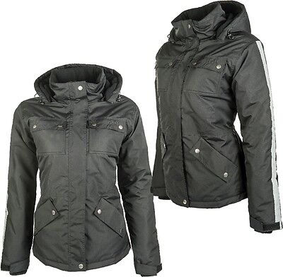 HKM Edmonton Insulated Winter Horse Riding Jacket Black Ladies Coat