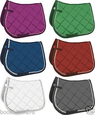 HKM Diamond Pad Saddle Cloth General Purpose Or Dressage Blue Green Red Pink