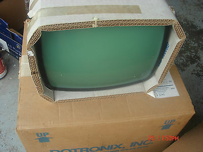 "Vintage Dotronix Dth-12  Monochrome Vision Display Monitor Crt 12"" Lot #2"