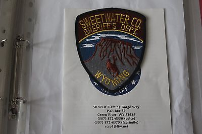 Shoulder Patch from Sweetwater Sheriff Department Wyoming