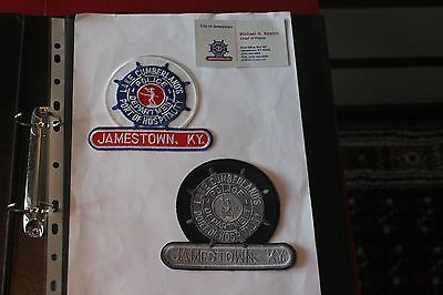 2 Shoulder Patches from Jamestown Police Department Kentucky