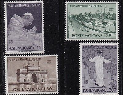 Vatican #400-403 Mnh Visit Of Pope Paul Vi To India