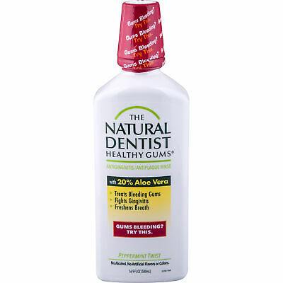 The Natural Dentist Antigingivitis Rinse Peppermint Twist 16 Oz (Pack of 10)