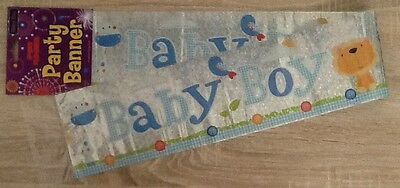 New Baby Boy Banner Can be split into 3 * Cute Animal Design / Baby Shower Party