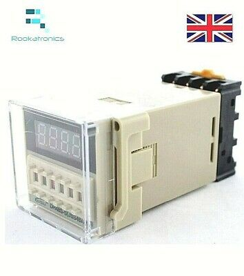 DH48S-S 12V/24V Time Delay Relay Timer/Counter with Socket Base Repeat Cycle