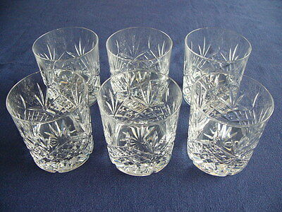 Stunning Set of 6 Large Vintage Whisky Tumblers - Superb Condition