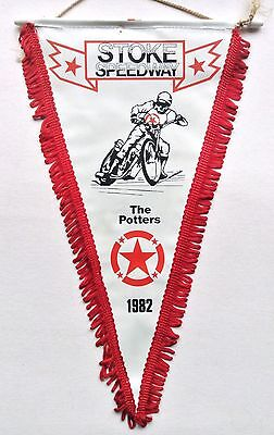 Stoke Potters 1982 Speedway Pennant