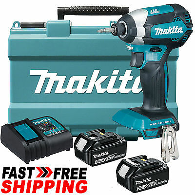 Makita 18V Li-Ion LXT Cordless Brushless Impact Driver Combo Kit - DTD153