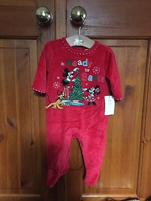 Disney Store Christmas Baby grow. Bnwt. Size 3-6 Months