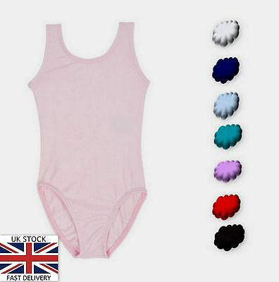 Ballet Dance Leotard Cotton Sleeveless Red Pink Blue Black White + Rad Style
