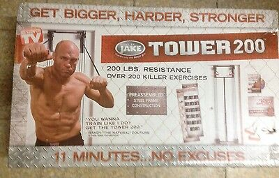 Tower 200 Full Body Home Gym Body By Jake Door Elastic Straps New