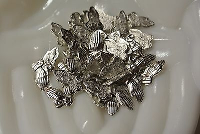 Lot of White Gold Plated Praying Hands for Jewelry Making Crafting Supplies