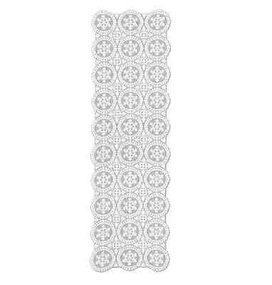 """Heritage Lace YULETIDE Christmas White Table Runner or Mantle Scarf - 19"""" x 65"""""""