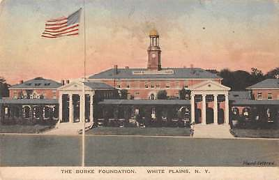 White Plains New York birds eye view The Burke Foundation antique pc Z29766