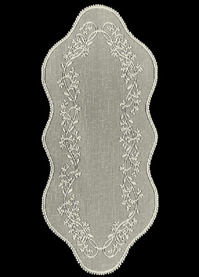 "Heritage Lace ECRU SHEER DIVINE 14"" x 32"" Table Runner"
