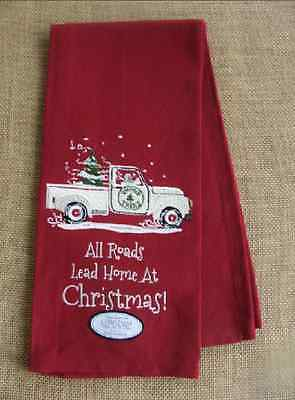 ALL ROADS LEAD HOME AT CHRISTMAS Snowman in Truck Kitchen Towel - Park Designs