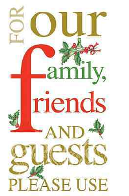 FAMILY FRIENDS...PLEASE USE 16 Paper Guest Towels by IHR, Christmas with Holly