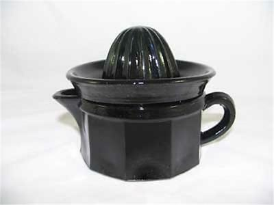 Eboney Glass  Juicer/ Reamer With Cup