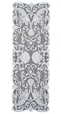 """Heritage Lace WHITE MERMAIDS Table Runner 14"""" x 40"""""""