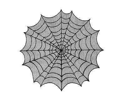 "Heritage Lace SPIDER WEB 30"" Table Topper - Halloween - Black"
