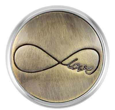 Buy 4, Get 5Th $6.95 Snap Free Ginger Snaps™ Brass Infinity Love Sn01-17