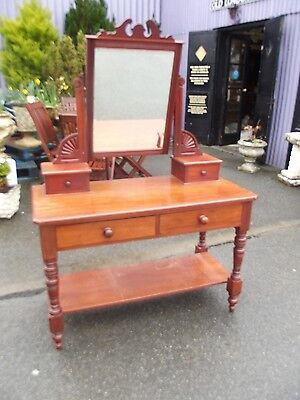victorian mahogany dressing table with mirror