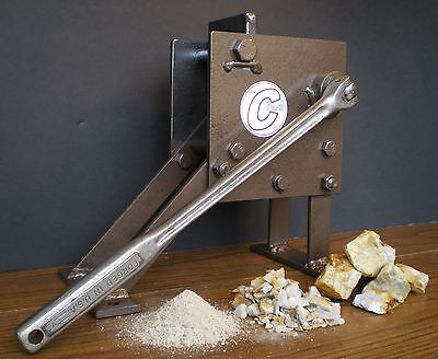 """ROCK CRUSHER Hand operated Jaw type. Geological assay frit pick """"The Crunch"""""""