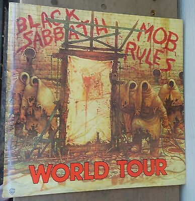 1981 Black Sabbath Mob Rules World Tour Book