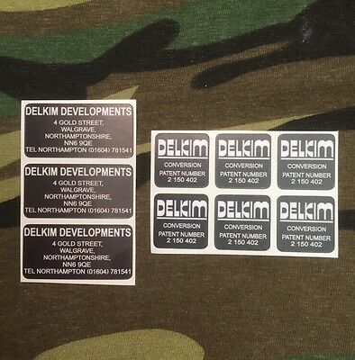 x3 Delkim Optonic Conversion bite alarm stickers/Decals