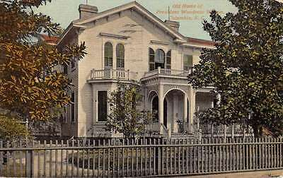 Columbia South Carolina President Wilson Home Antique Postcard K49114