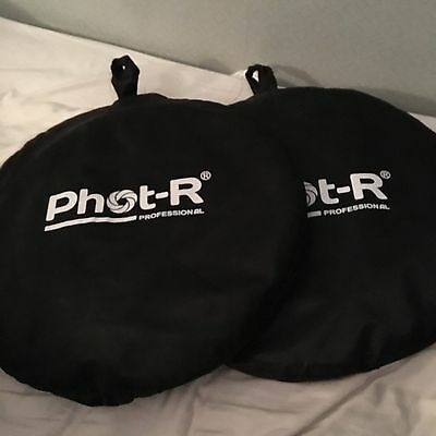 """Phot-R 90x120cm (35""""x47"""") 5in1 Photo Studio Collapsible Light Reflector + Case"""