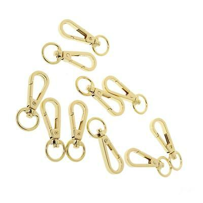 10 D Swivel Trigger Clips Hooks Metal Key Rings Lobster Clasps DOG BAG CLIPS