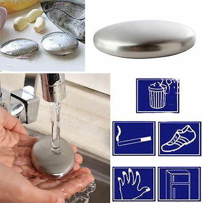 Garlic Kitchen Deodorize Tools Soap Bar Stainless Steel Gadget