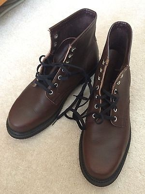 Brown Commercial Made Reproduction Ww2 German Late War Ankle Boots Size 10C