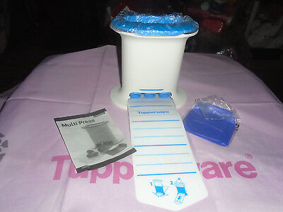 Tupperware Brand New Snack Press Dessert Cookie Cutter Set with 1 mold YUMMY