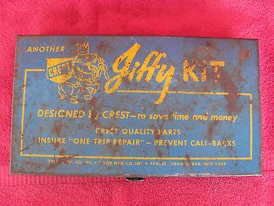 Old Vintage Crest Jiffy Kit Rubber Washers Assortment 4 Plumbers Plumbing Supply