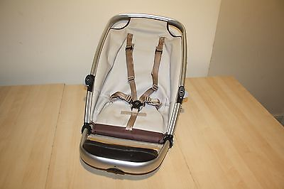 """Quinny Buzz 3/4 wheeled pram and pushchair """" seat unit """" - silver frame"""