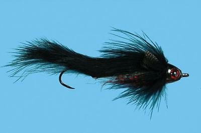 Sculpzilla Black Articulated Sculpin Streamer Fly Size 4 Or Size 8