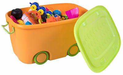 New Basicwise Stackable Toy Storage Box with Wheels, QI003221