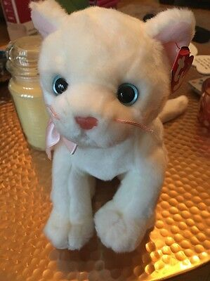 TY FLIP the White Cat Beanie Buddy New See Description 12""