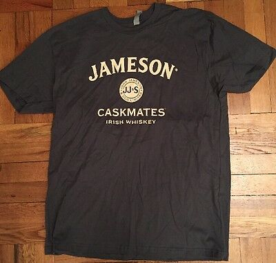 NEW Jameson Caskmates Irish Whiskey Large Green Cotton T-shirt Large