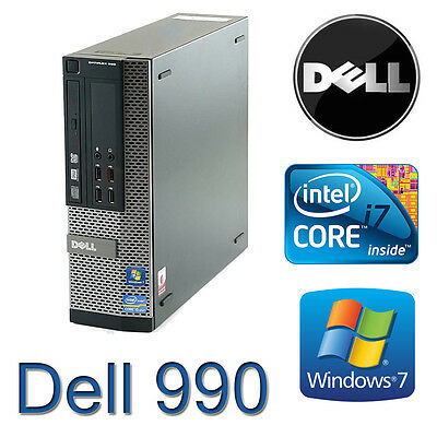 Dell 990 SFF 2nd Gen Quad Core i7 3.4GHz 8GB 120GB SSD  Win 7 Pro Desktop PC